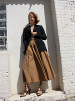 Ochre Cotton Skirt