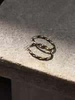 Twisted Sterling Hoops