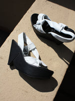 Clergerie Black & White Wedges (7)
