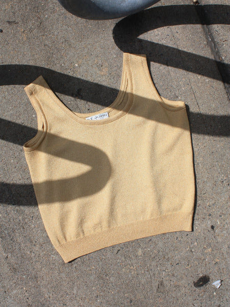 St. John Metallic Knit Tank
