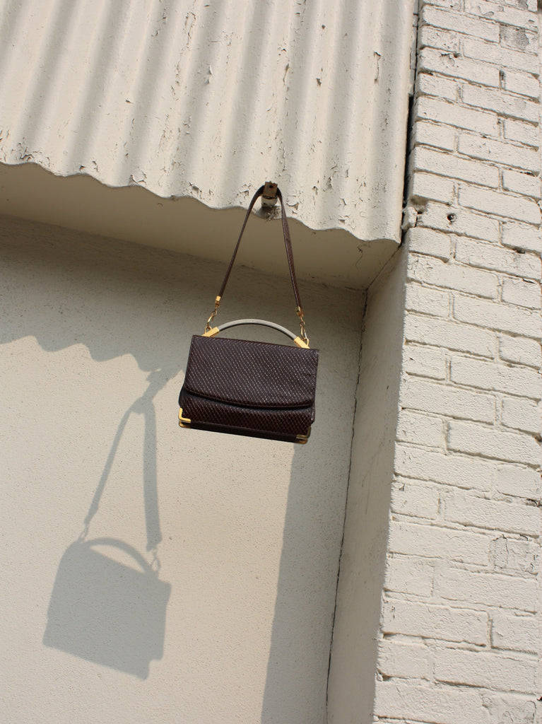 Oxblood Snakeskin Purse