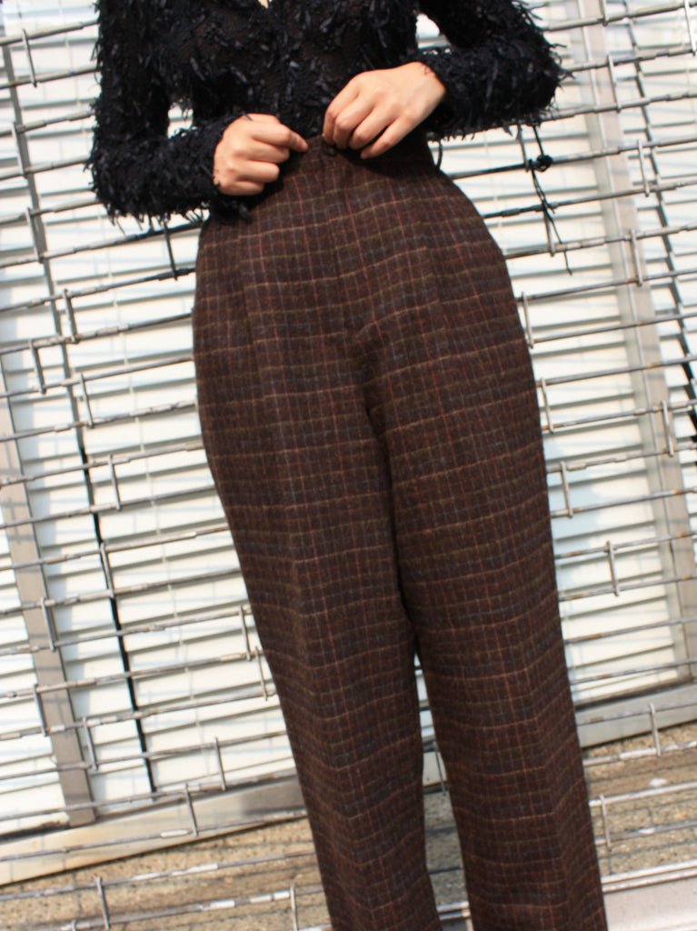 Windowpane Wool Widelegs