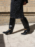 Chain Detail Knee Length Boots