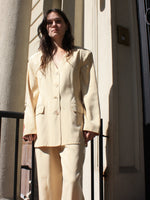 Cream Silk Suit
