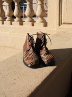 Houndstooth Pony Hair Boots (6.5)