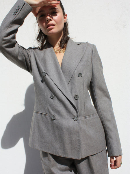 Harvé Benard Grey Wool Suit