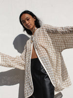 Oversized Sheer Check Jacket