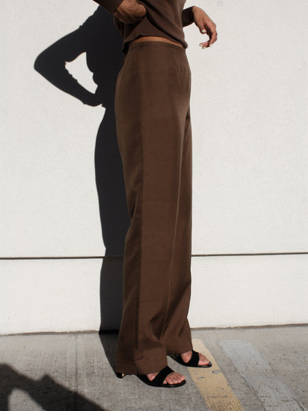 Cocoa Silk Pants