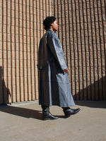 Gunmetal Leather Trench