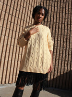 Oversized Cotton Cable Knit
