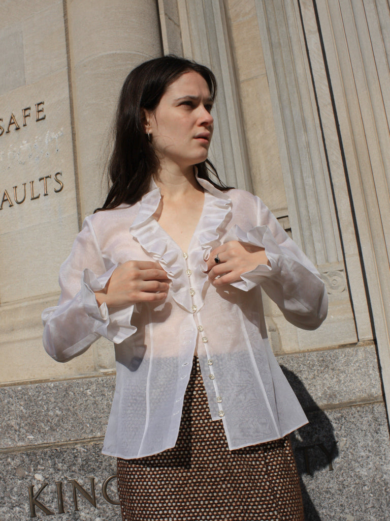 Sheer Silk Organza Blouse