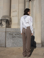 Taupe Wool Trousers