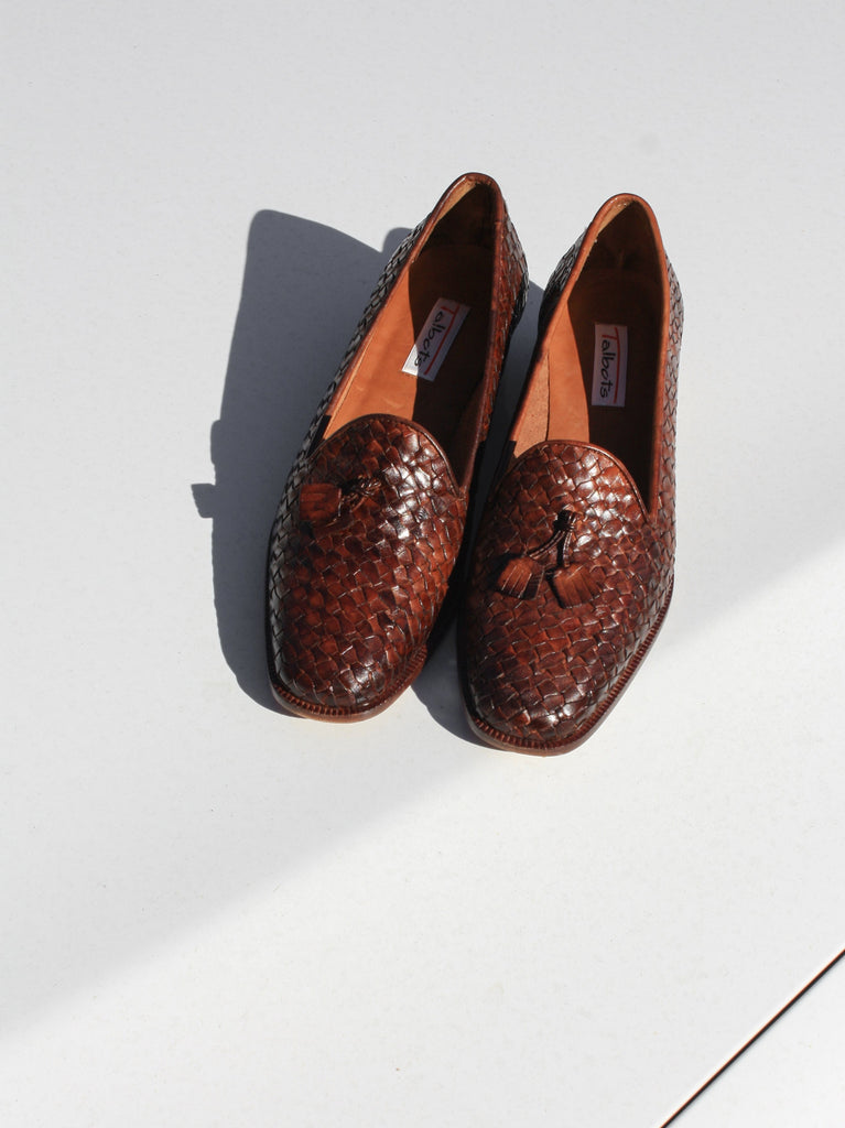 Woven Leather Loafers (8)