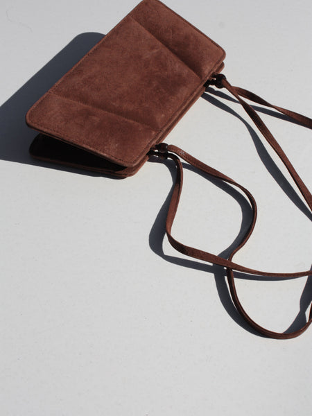 Cocoa Suede Shoulder Bag