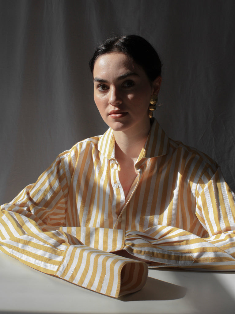 Yellow Stripe Menswear Shirt