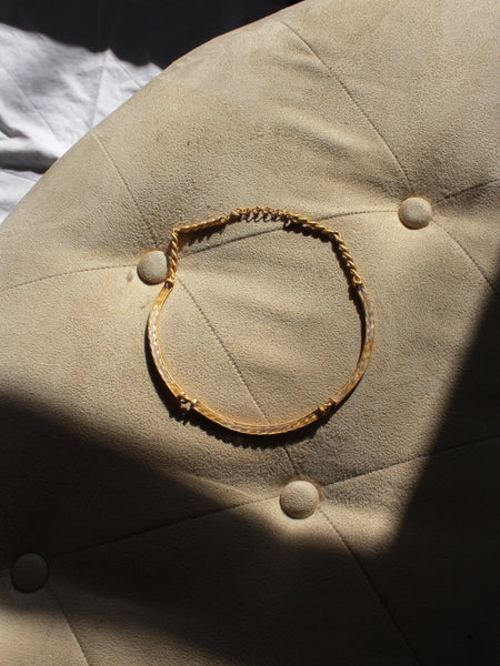 Narrow Matte Gold Collar