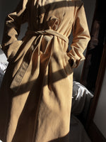 Camel Corduroy Trench