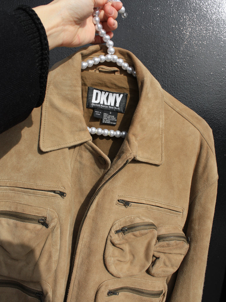 DKNY Suede Bomber