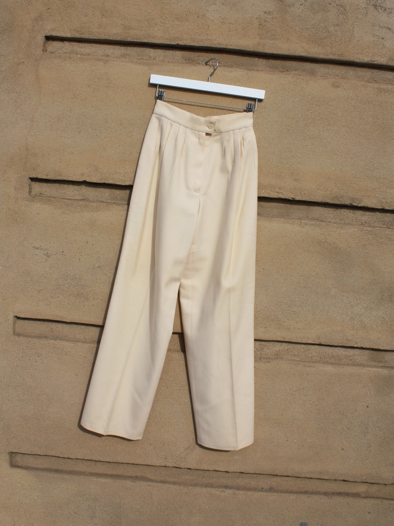 Chloé Cream Wool Pants