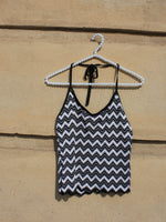 Chevron Knit Halter Top