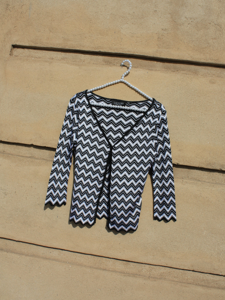 Chevron Knit Cardigan