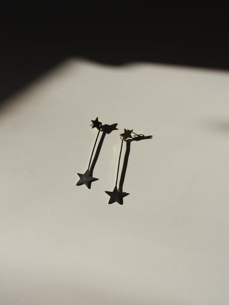 Sterling Star Drop Earrings