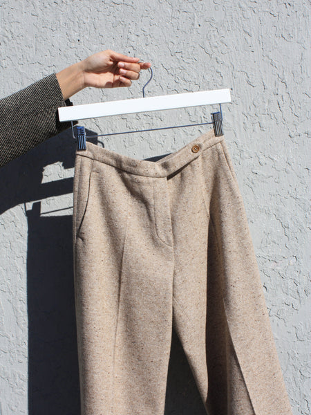 Tan Tweed Trousers