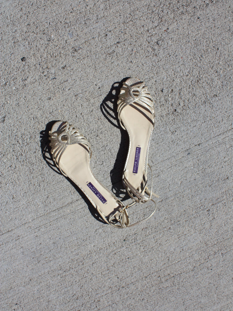 Ralph Lauren Metallic Sandals (7)