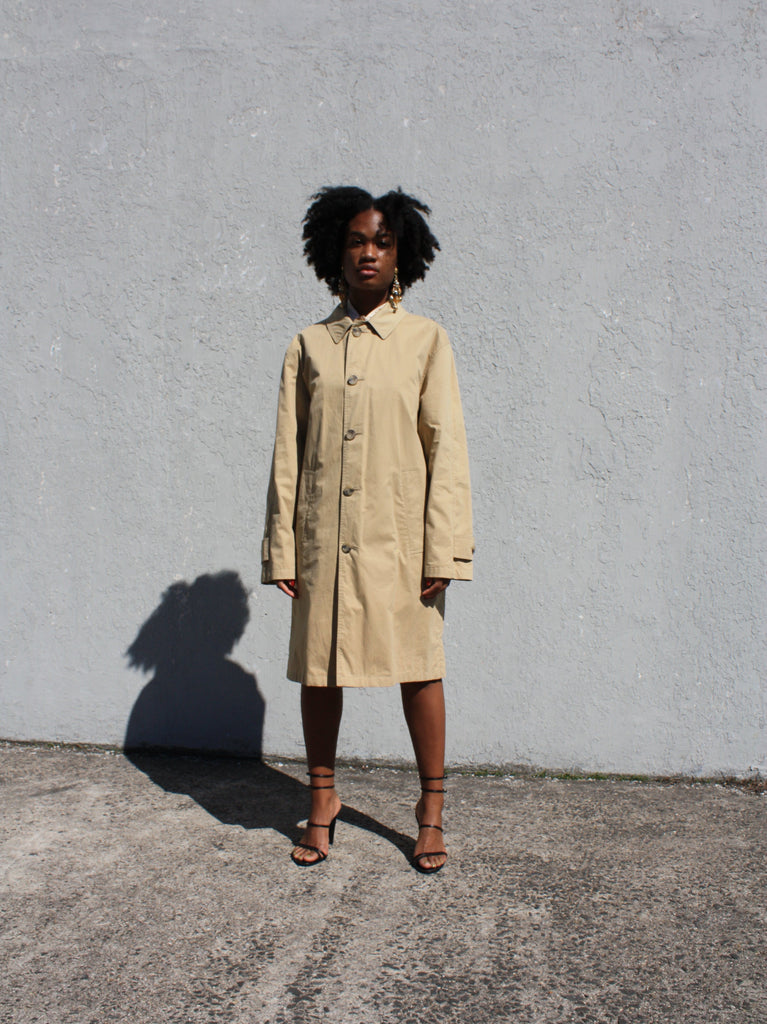 Khaki Cotton Trench