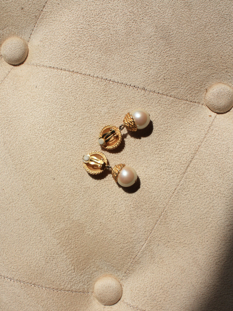 Braided Pearl Earrings