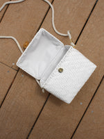 Lacquered Straw Box Bag