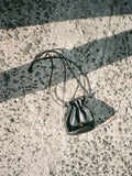 Paloma Picasso Leather Drawstring Bag