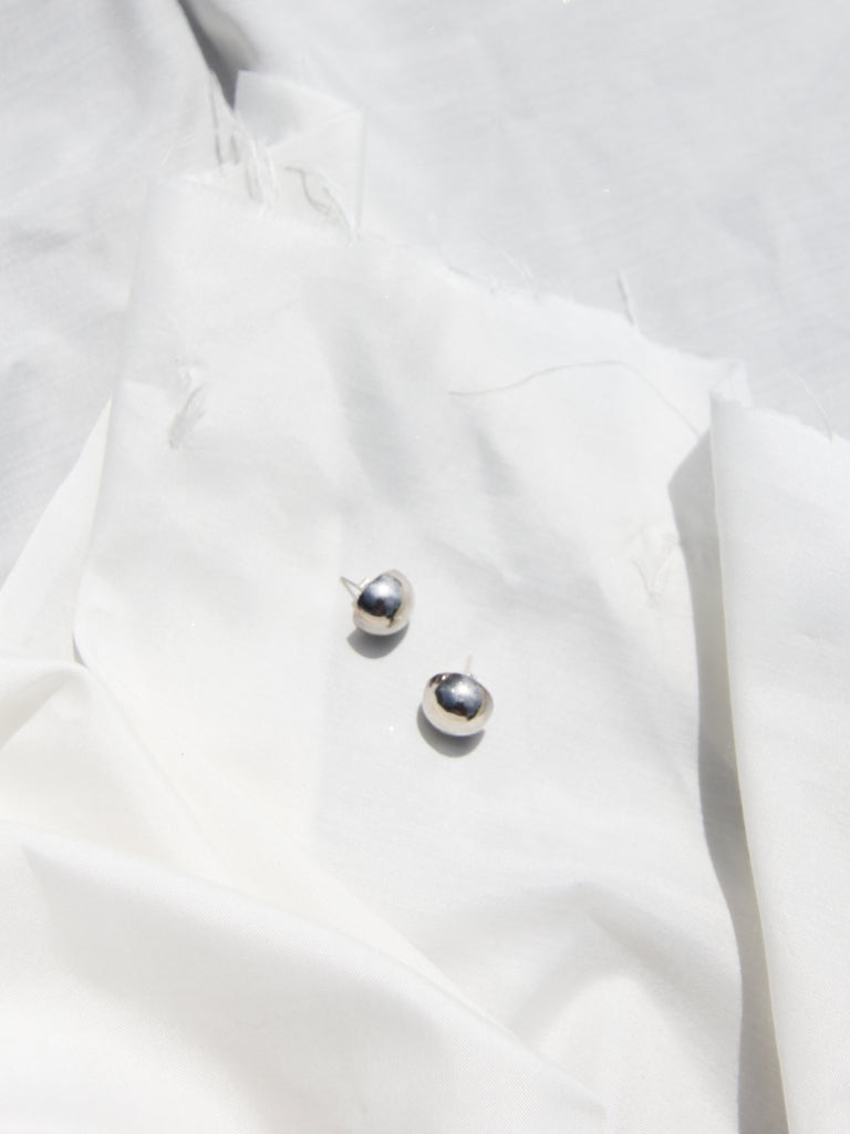Sterling Button Earrings