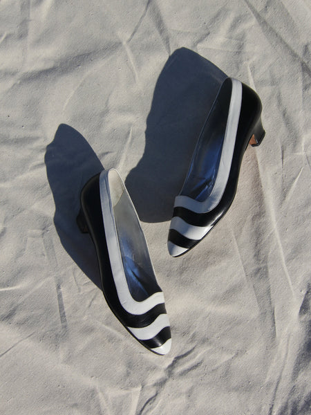 Perry Ellis Striped Leather Shoes (8)