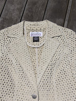 Perforated Suede Jacket