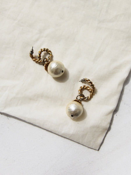 Rope and Pearl Earrings
