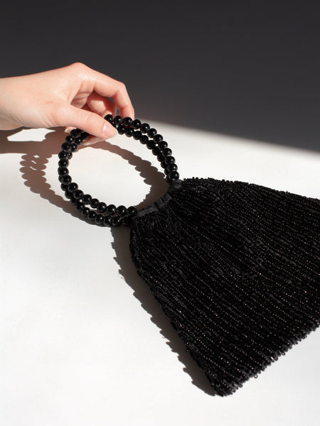 Ring Handle Beaded Bag