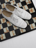 Joan & David White Leather Oxfords (9)