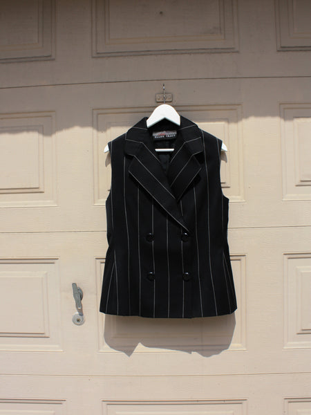 Double Breasted Pinstripe Vest