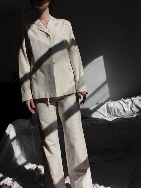 Morgane Le Fay Raw Silk Suit
