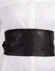 Black Leather Obi Belt