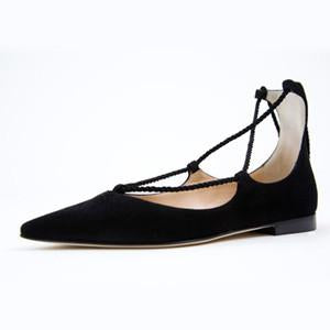 Trieste Lace-Up Ballet Flats