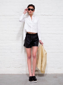 Eco-Leather Shorts