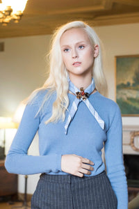 Campiglio Cashmere Sweater in Blue