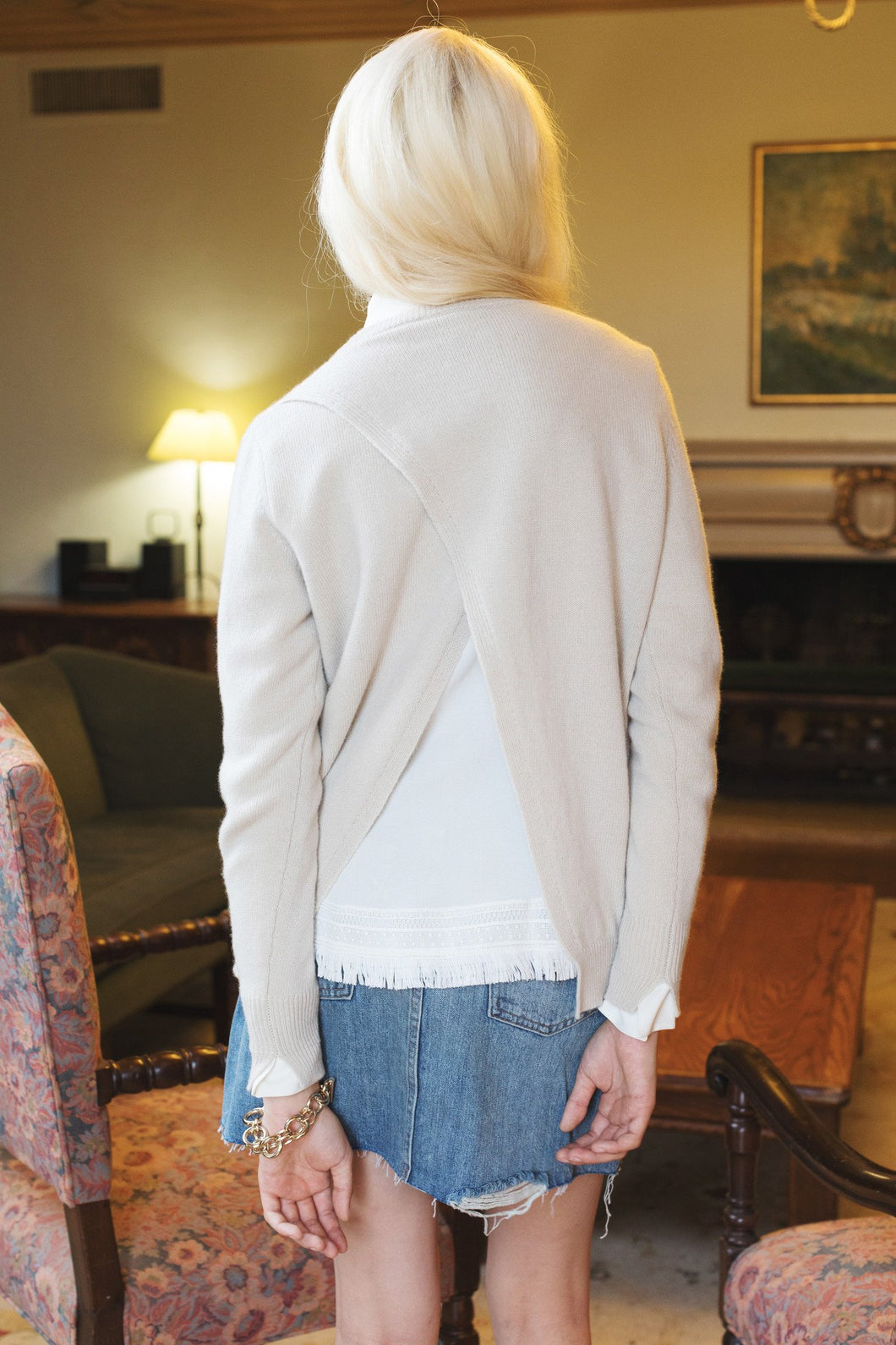 Ancona Open-Back Sweater