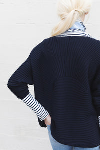 Luxe Comfort Sweater in Navy Blue