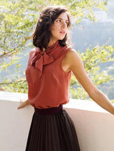 Simplicity Sleeveless Blouse with Bow