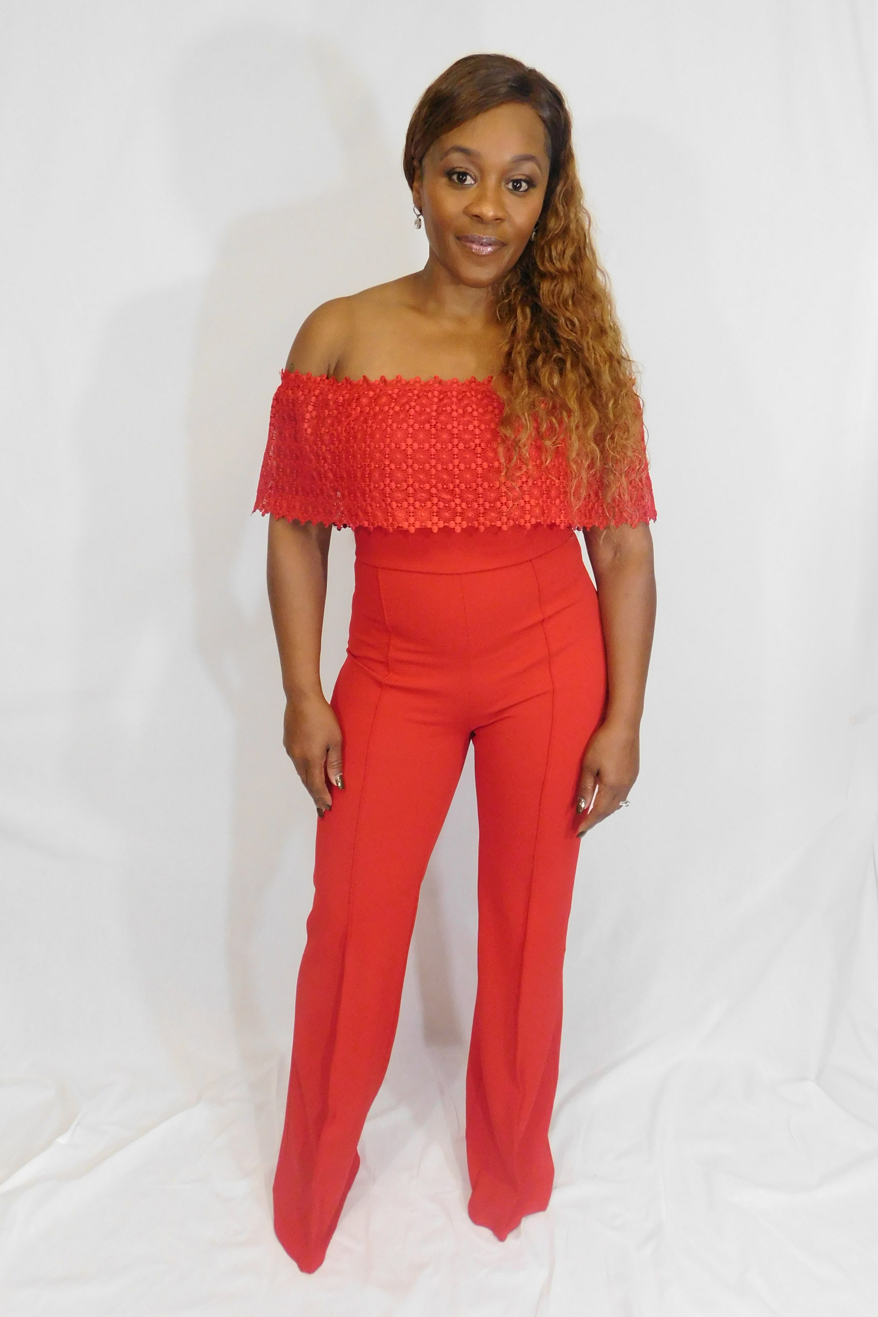 Hot as Fire Jumpsuit