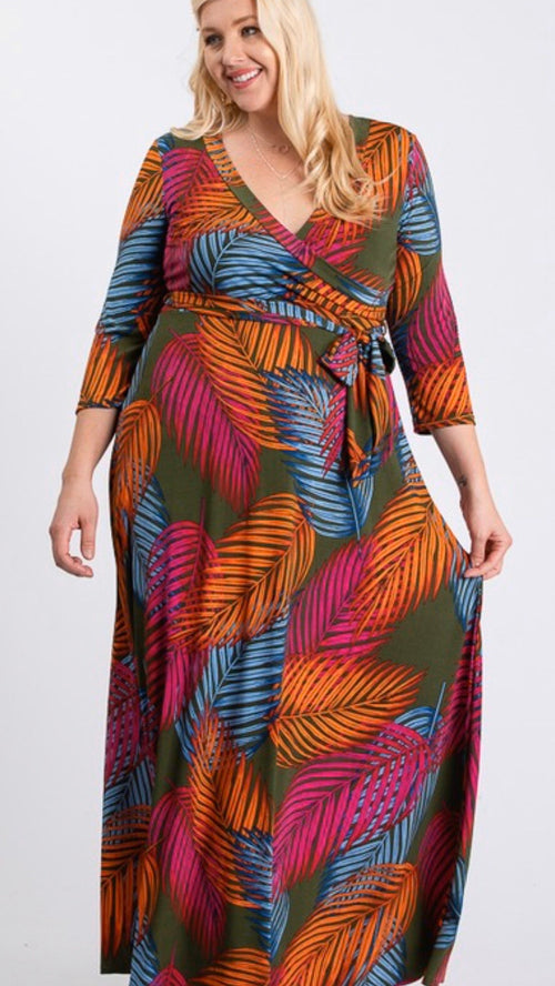 Palm Springs Maxi Dress (Plus Size)