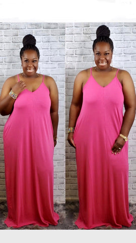 Comfy Girl Dress, 2 Colors    (Plus Size)